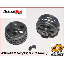 PKS ALUMINIUM WHEELS ANODIZED (17,5 x 13mm.)