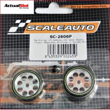 WHEELS & SPONGE PROCOMP-2 TYRES (25,5 x 8mm.)