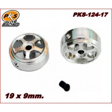 ALUMINIUM WHEELS (19 x 9mm.)(1/24)