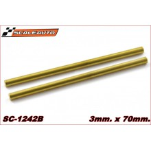 EJE ACERO HARD GOLD SURFACE (65 X 3mm.)