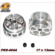 ALUMINIUM WHEELS LIGHTWEIGHT PKS (1/24) ( 17 x 13mm.)