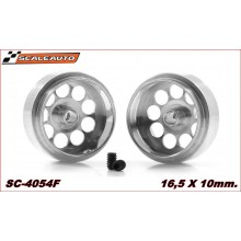 ALUMINIUM WHEELS 16,5 x 10mm. LIGHTWEIGHT