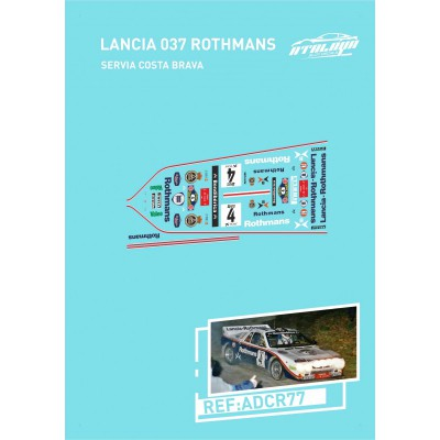 DECALS 1/24 LANCIA 037 (33 RALLY COSTA BRAVA 1985)