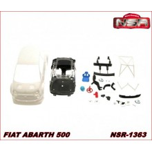 FIAT ABARTH 500 WHITE BODY KIT