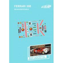 CALQUES 1/24 FERRARI 308 GTB - BELGA