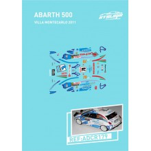 DECALS 1/24 ABARTH 500 (RALLY MONTE CARLO 2011)