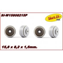 SHORT HUB PLASTIC WHEELS 15,8 x 8,2 x 1,5mm.