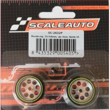 WHEELS & SPONGE PROCOMP-2 TYRES (24,5 x 8mm.)