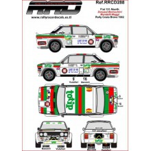 CALQUES 1/24 FIAT 131 ABARTH (RALLY COSTA BRAVA 1982)