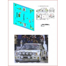 DECALS 1/32 PEUGEOT 205 T16 EVO1 (RALLY MONTE CARLO 1986)