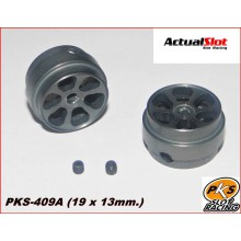 K6 ALUMINIUM WHEELS LIGHTWEIGHT PKS (1/24) ( 19 X 13MM.)