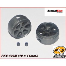 K6 ALUMINIUM WHEELS LIGHTWEIGHT PKS (1/24) ( 19 X 11mm.)
