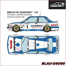 "DECALS BMW E30 M3 ""BLAUPUNKT"" (1/24)"