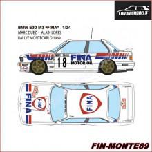 "CALCQUES BMW E30 M3 ""DUEZ - MONTECARLO 1989"" (1/24)"