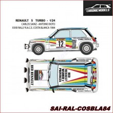 "DECALS RENAULT 5 TURBO ""R. COSTA BLANCA '84"" (1/24)"