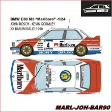 "DECALS BMW E30 M3 ""XX BARUM RALLYE 1990"" (1/24)"