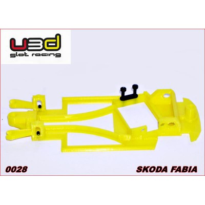 CHASSIS 3D SKODA FABIA (SCALEXTRIC - ANGLEWINDER)