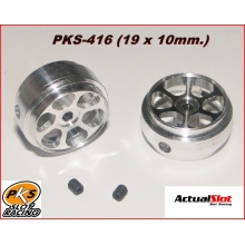 ALUMINIUM WHEELS (19 x 10mm.) (LIGHTWEIGHT)