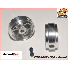 ALUMINIUM WHEELS (18,5 x9mm.)(1/24)