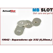SEPARADORES EJE 3/32 DE 0,25 mm.