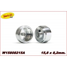 ALUMINIUM WHEELS (15,8 x 8,2 x 1,5mm.)