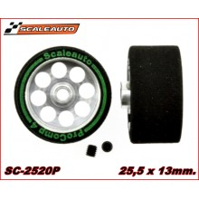 WHEELS & SPONGE PROCOMP-2 TYRES (25,5 x 13mm.)