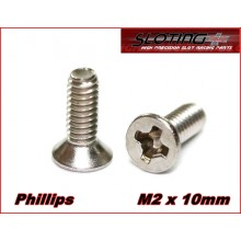 20 Tornillos inox. Philips M2 x 10