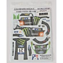 DECALS 1/24 FORD FIESTA WRC (MÉXICO 2012)