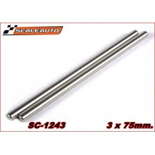 3 X 75MM. RECTIFIED STEEL AXLE