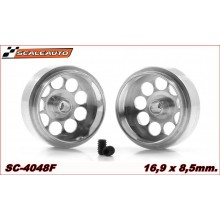 ALUMINIUM WHEELS 16,9 x 8,5mm. LIGHTWEIGHT