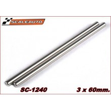 3 X 60MM. RECTIFIED STEEL AXLE