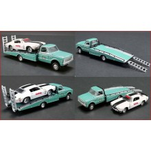 1967 CHEVROLET RAMP TRUCK WITH 1971 CHEVROLET CAMARO Z/28 (1/64)