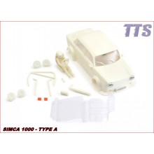 SIMCA 1000 WHITE BODY KIT + WHEEL INSERTS
