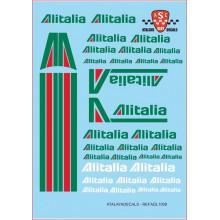 """GENERIC DECALS """"ALITALIA"""""""