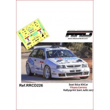 DECALS 1/32 SEAT IBIZA KITCAR (RALLYSPRINT SANT JULIA 2017)