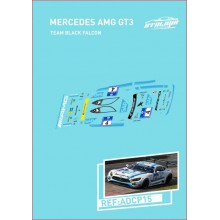 DECALS 1/32 MERCEDES AMG GT3 - TEAM BLACK FALCON