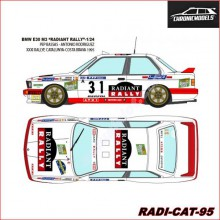 "DECALS BMW E30 M3 ""RADIANT RALLY"" (1/24)"