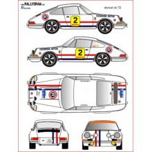 DECALS 1/24 PORSCHE 911 S (RALLY COSTA BRAVA 1972)