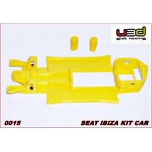 CHASSIS 3D SEAT IBIZA KIT CAR (SCALEXTRIC - IN-LINE)