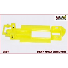 CHASSIS 3D SEAT IBIZA BIMOTOR (SCALEXTRIC - IN-LINE)