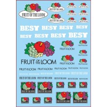 DECALS - FRUIT OF THE LOOM