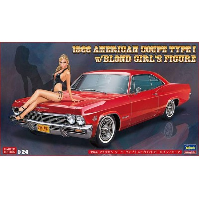 1966 CHEVY IMPALA SS WITH BLOND GIRL'S FIGURE  (1/24)