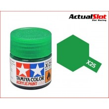 TAMIYA X-25 CLEAR GREEN 10ML.