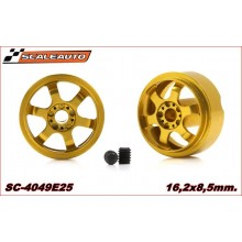 ALUMINIUM WHEELS 16,2 x 8,5mm. JARAMA