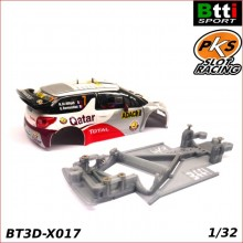 CHASIS 3D CITROEN DS3 WRC (SCALEXTRIC - ANGLEWINDER)
