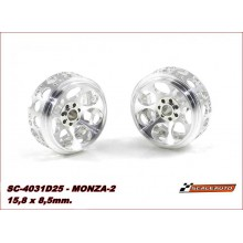 ALUMINIUM WHEELS 15,8 x 8,5mm. MONZA-2