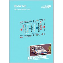 DECALS 1/32 BMW M3 (RALLY OURENSE 1989)