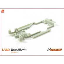 CHASSIS R FOR PORSCHE 959 AND MG METRO - GREY (MEDIUM)