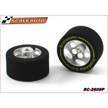 WHEELS & SPONGE PROCOMP-2 TYRES (25,5 x 11mm.)