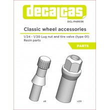 1/24 LUG NUTS AND TIRE VALVES